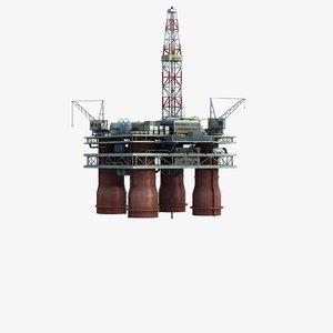 max offshore oil drilling platform