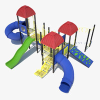 3d model outdoor playground equipment ground