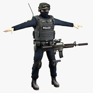 police swat 3d max