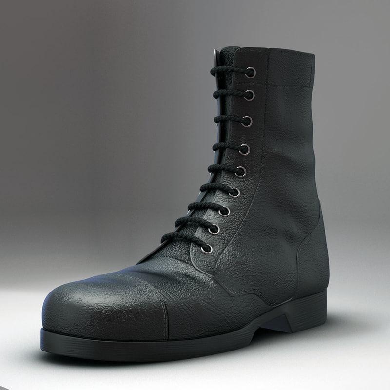 3d realistic boot model