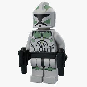 3ds max lego trooper
