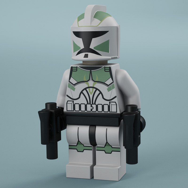 3ds max lego trooper
