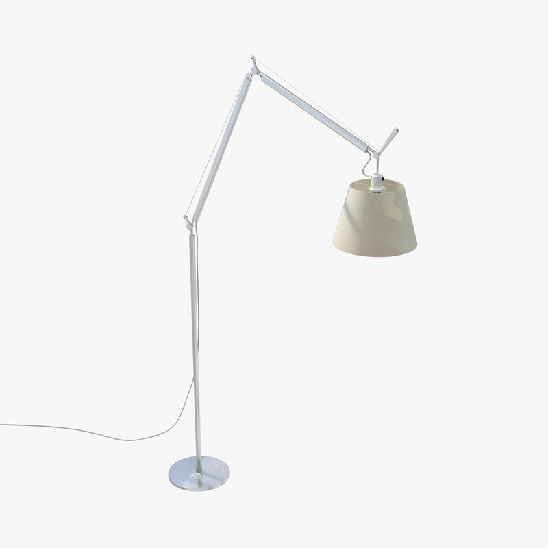 3d model michele tolomeo floor lamp