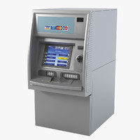 3d model atm cash machine