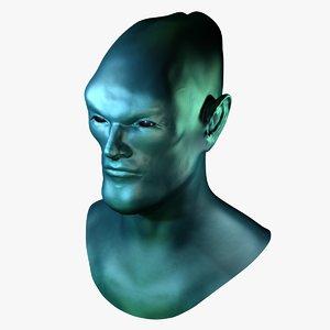alien head 3d obj