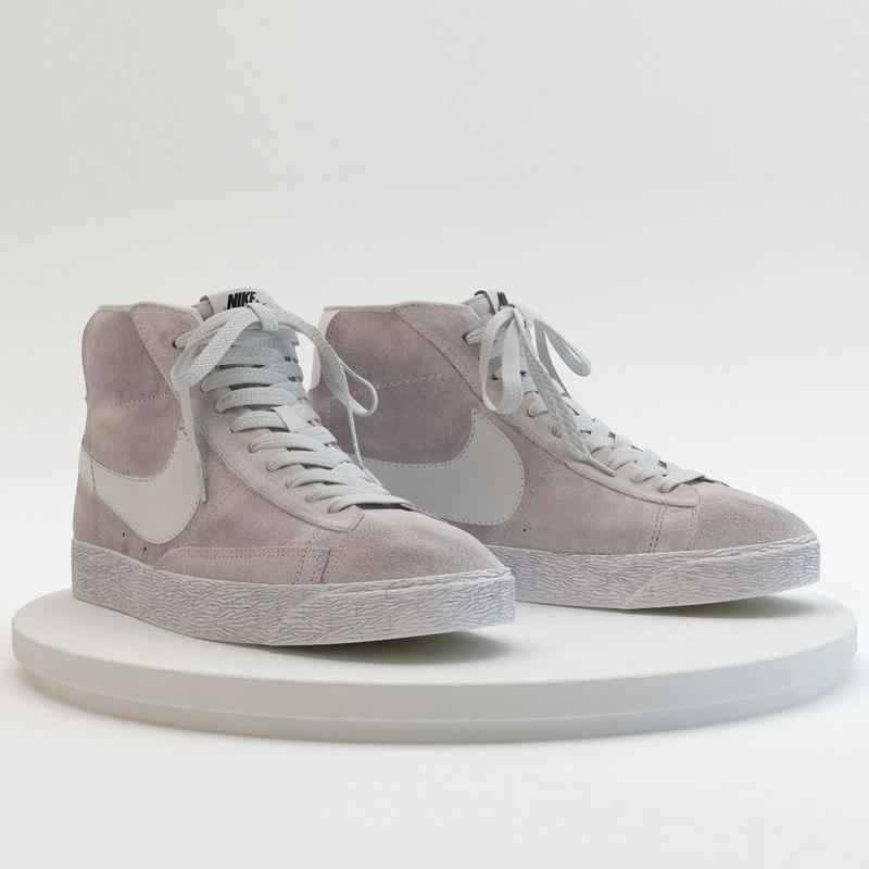 3d model - nike blazer grey