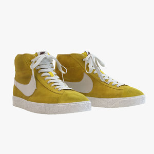 - nike blazer yellow 3d model