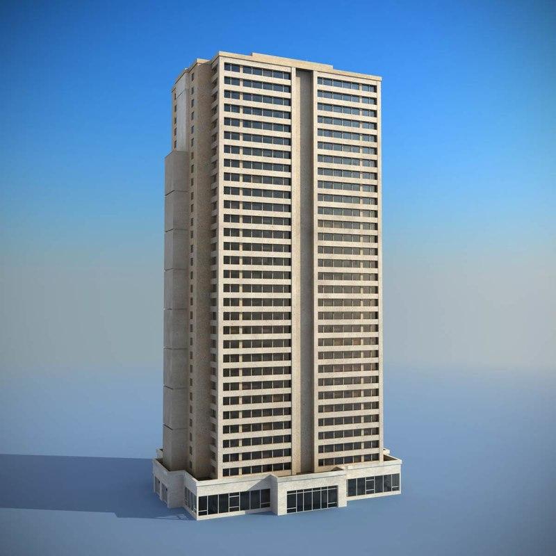 3d model building skyscraper