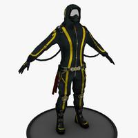 3d model futuristic character