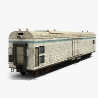 railway refrigerator wagon 3d 3ds