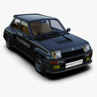 3d model of renault 5 turbo