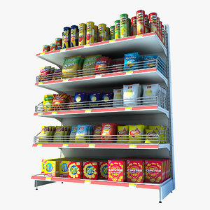 chips shelf 3d max