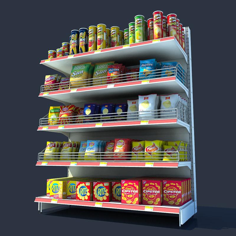 chips shelf 3d max