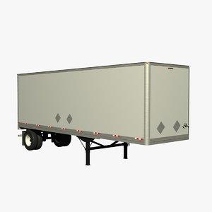 lwo manac 32ft van trailer