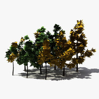 3d modelled tree model