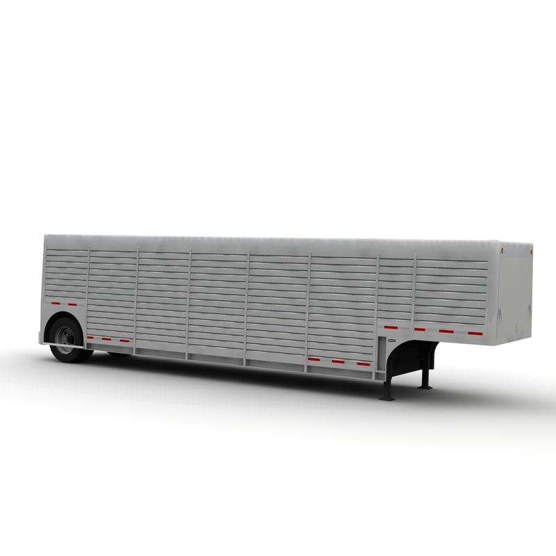 3d model trailer hackney beverage