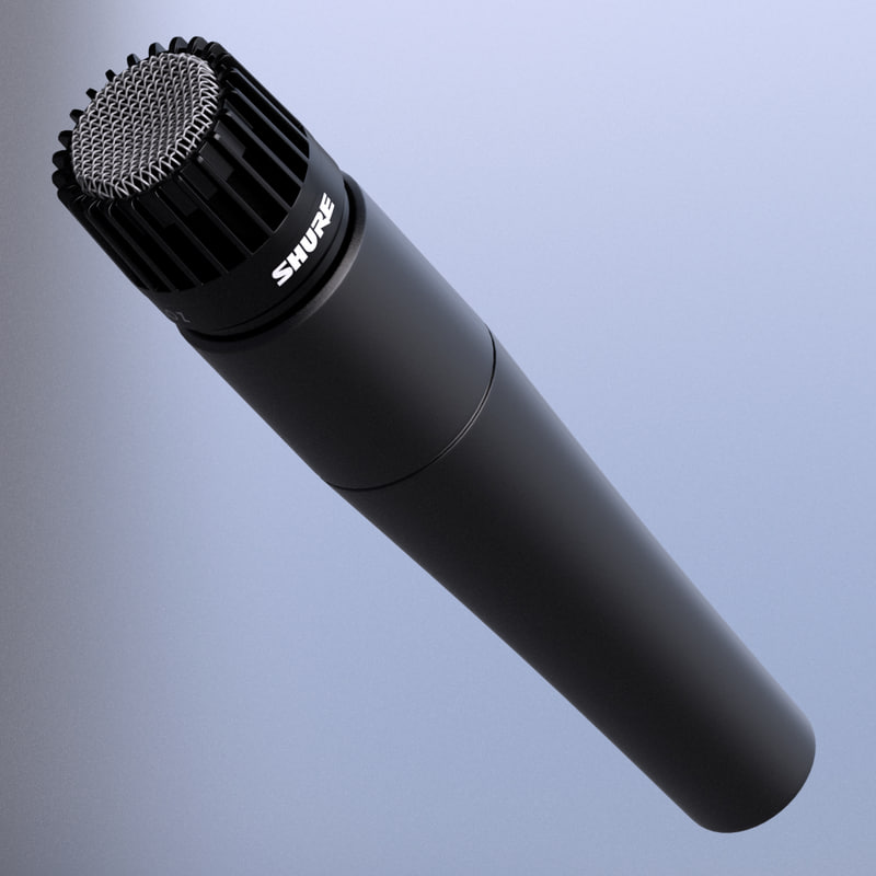 3d model shure sm57 microphone