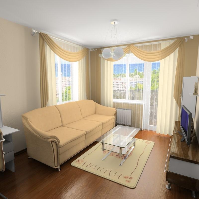 3ds max apartment 1