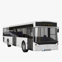 mercedes benz city bus 3d 3ds