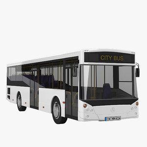 mercedes benz city bus 3d 3ds