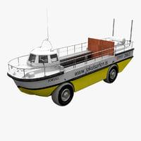 3d amphibious boat jokulsarlon
