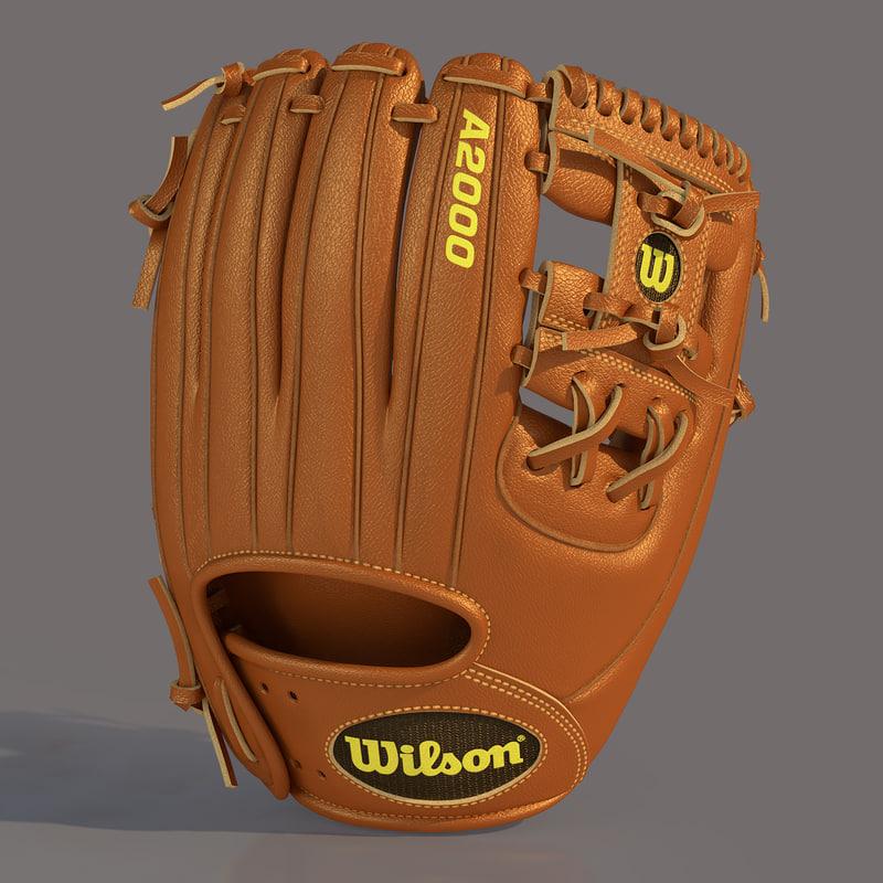 3d model of baseball glove base