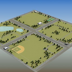 3ds max urban park rt