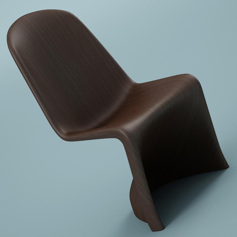 3ds max panton chair