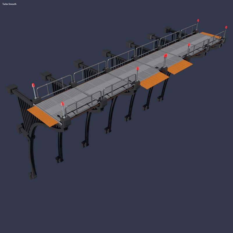 sci-fi bridge 3d max