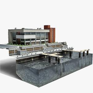 3d port sea model