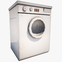 3d wash machine model