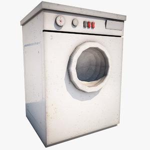 3d wash machine model