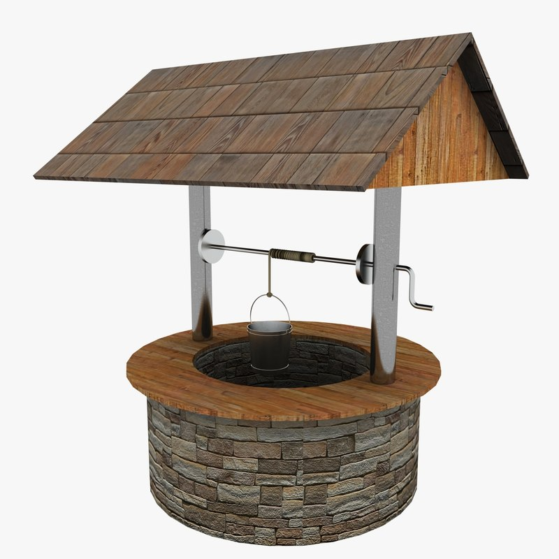 Water well 3d model for Well pictures