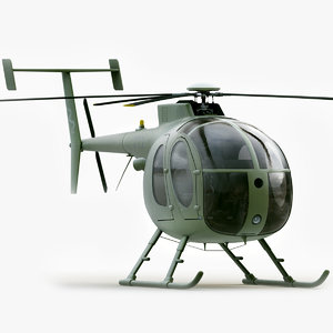500 helicopter 3d model