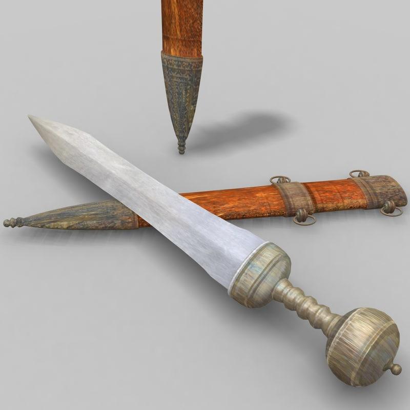 3ds max roman sword gladius
