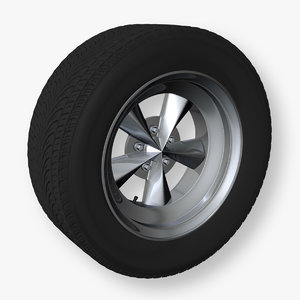 maya muscle car wheel