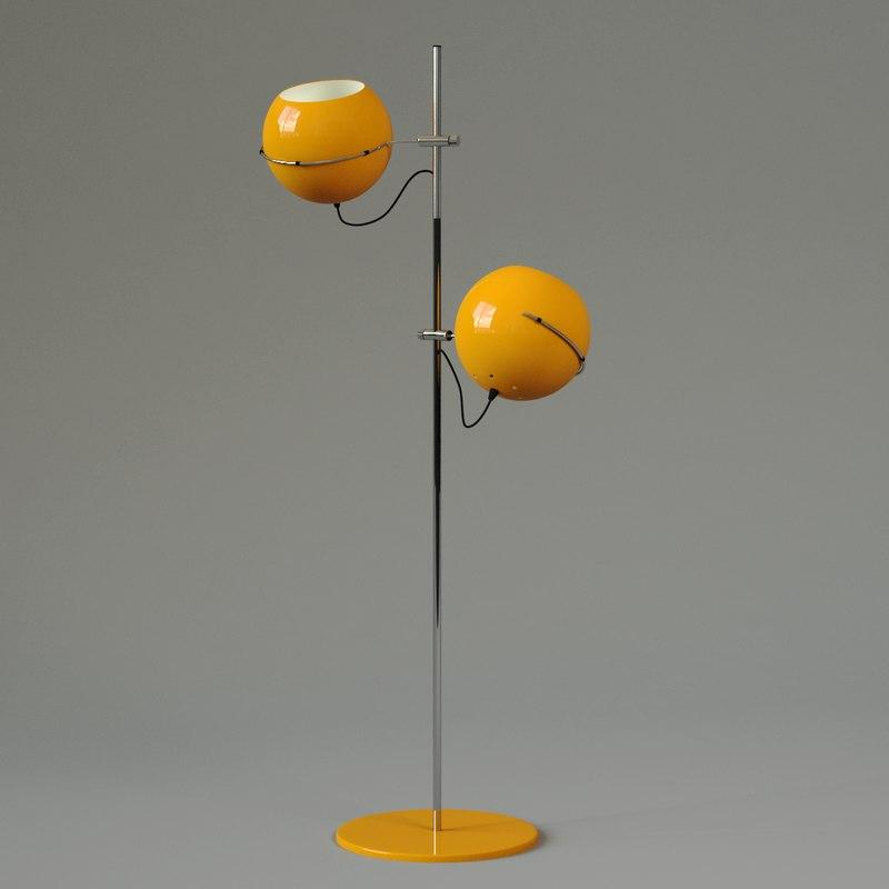 3d seventies standing lamp model
