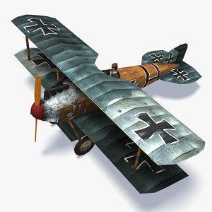 3d model albatros d ii aircraft games