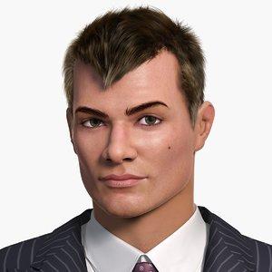 european man character darrel 3d max