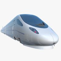 speed rail train 3d model