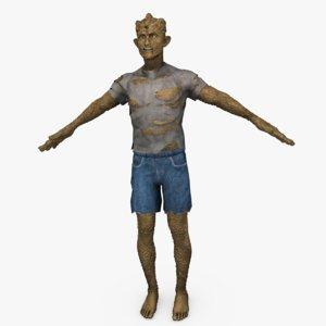 monster humanoid creature 3d model