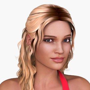3d european woman character nicole