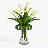 Calla flower in vase 2
