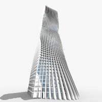 futuristic skyscraper obj