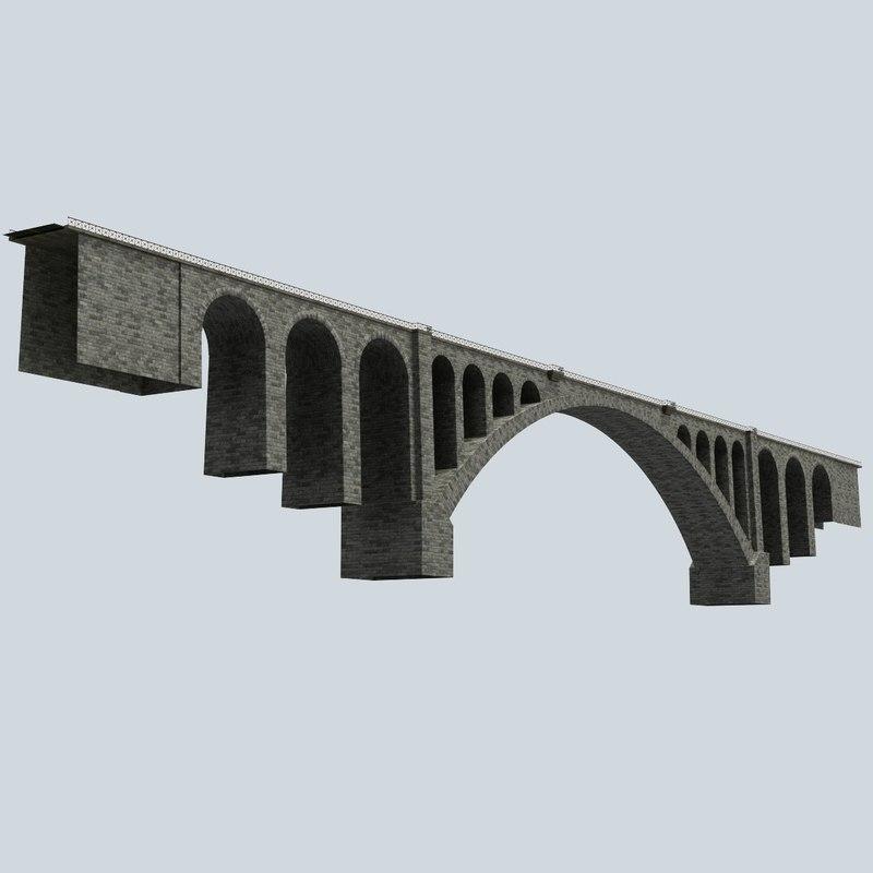 stone bridge 3d xsi