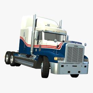 3d truck freightliner model