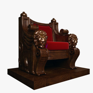 throne wood wooden max