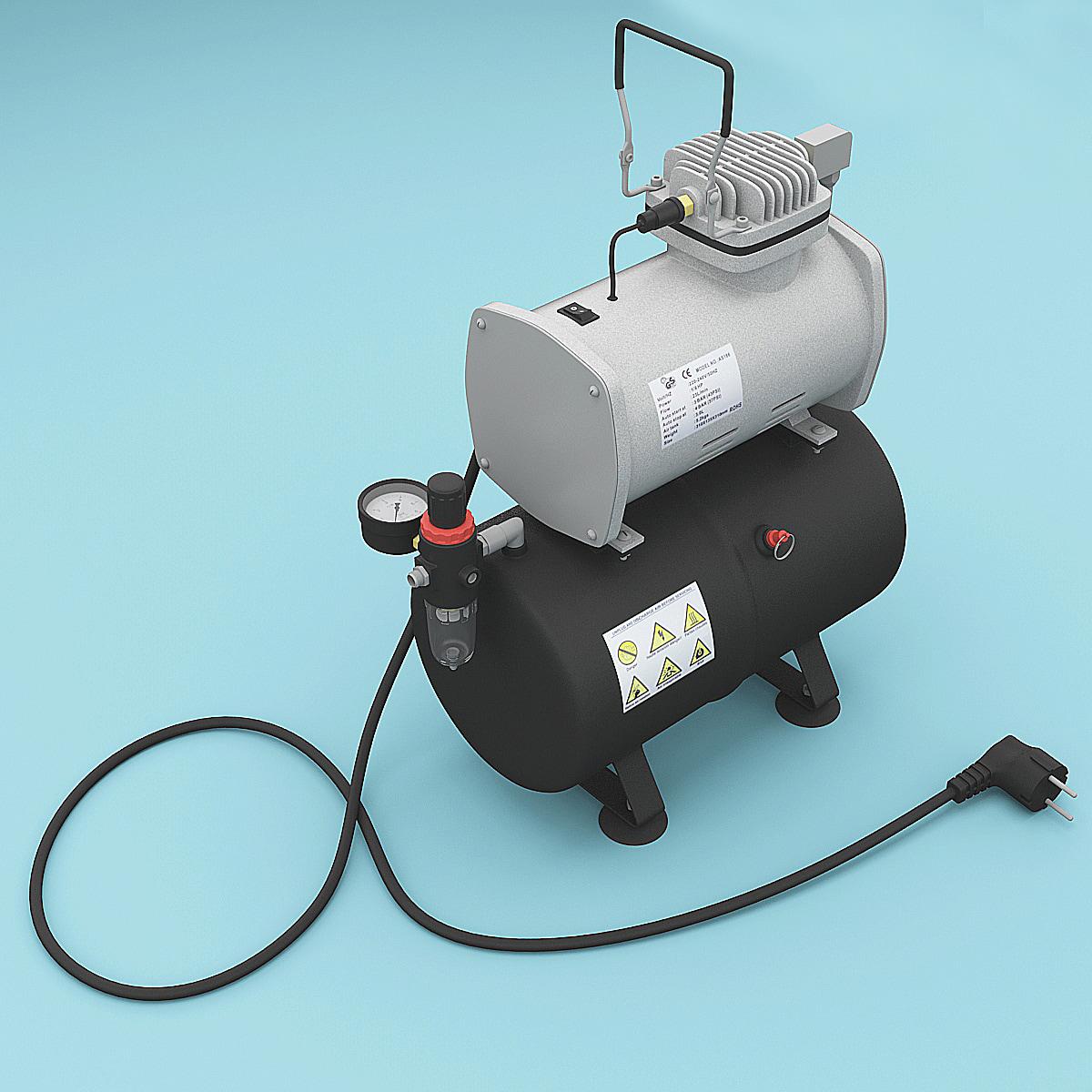 air compressor 2 3d model