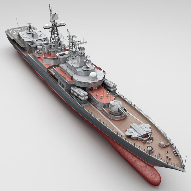 bpk russian large antisubmarine 3d model