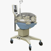 3d model of infant incubator pc 307
